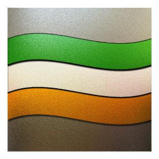 Couleur-Chrome de drapeau de l Irlande Impressions Photographiques