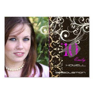Couleur d'accent personnalisable, partie de 2010 carton d'invitation  12,7 cm x 17,78 cm
