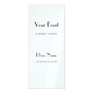 Couleur de papier métallique 4x9.25 de glace carton d'invitation  10,16 cm x 23,49 cm