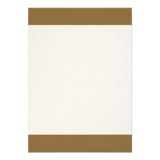 Couleur en bronze égéenne simple carton d'invitation  12,7 cm x 17,78 cm