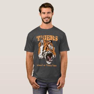 Couleur foncée de T-shirt de sports de tigres
