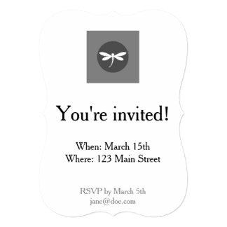 Couleur personnalisable de libellule avec la carton d'invitation  12,7 cm x 17,78 cm