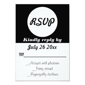Couleur personnalisable de pois du mariage RSVP Carton D'invitation 8,89 Cm X 12,70 Cm