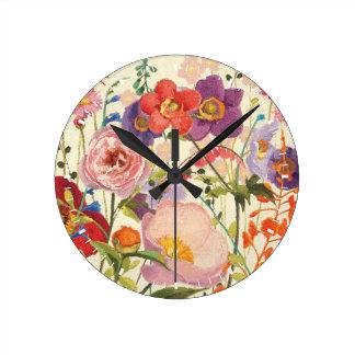 Couleur Printemps Round Clock