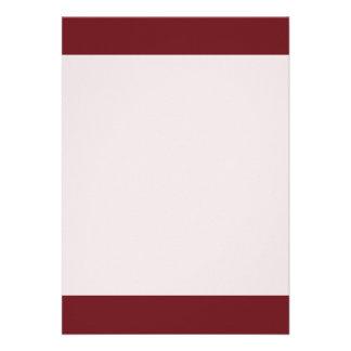Couleur rouge brillante simple carton d'invitation  12,7 cm x 17,78 cm