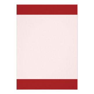 Couleur rouge de flamme simple carton d'invitation  12,7 cm x 17,78 cm
