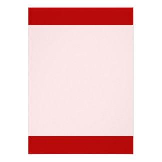 Couleur rouge lumineuse simple carton d'invitation  12,7 cm x 17,78 cm