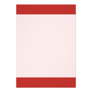 Couleur rouge simple d'Apollo Carton D'invitation 12,7 Cm X 17,78 Cm