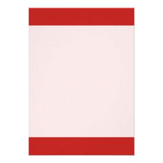 Couleur rouge simple de BRITE Carton D'invitation 12,7 Cm X 17,78 Cm