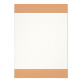 Couleur simple d'abricot carton d'invitation  12,7 cm x 17,78 cm