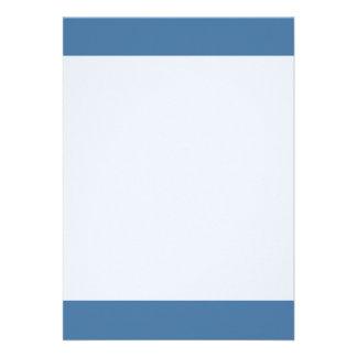 Couleur simple de bleu de Baniff Carton D'invitation 12,7 Cm X 17,78 Cm