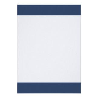 Couleur simple de bleu de Bryar Carton D'invitation 12,7 Cm X 17,78 Cm