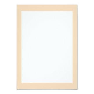 Couleur solide de bisque carton d'invitation  12,7 cm x 17,78 cm