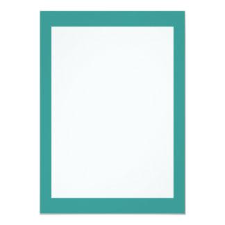 Couleur solide de bleu de paon carton d'invitation  12,7 cm x 17,78 cm