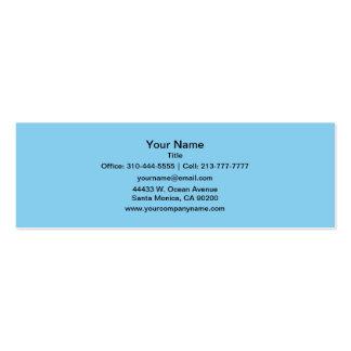 Couleur solide de bleus layette carte de visite petit format
