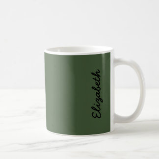 Couleur solide de Forest Green Mug Blanc