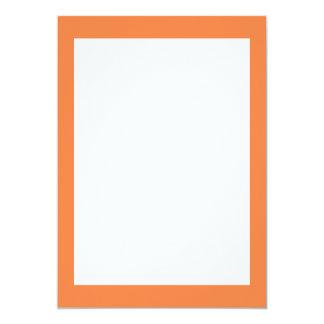 Couleur solide de mangue carton d'invitation  12,7 cm x 17,78 cm