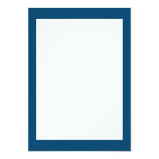 Couleur solide d'indigo de minuit carton d'invitation  12,7 cm x 17,78 cm