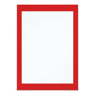 Couleur solide rouge de brique réfractaire carton d'invitation  12,7 cm x 17,78 cm