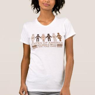 Couleur unie de chemise de Barack Obama T-shirts