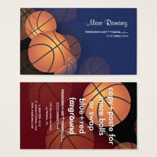 Couleurs d'arrière - plan du basket-ball cards/DIY Cartes De Visite