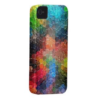 Couleurs dynamiques abstraites de la peinture étuis iPhone 4