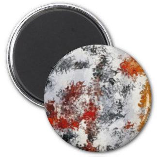 couleurs mélangées magnet rond 8 cm