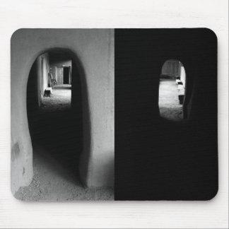 Couloir d'Adobe : Mousepad noir et blanc de photos Tapis De Souris