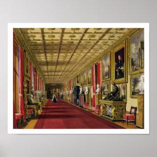 Couloir du sud, château de Windsor, 1838 (chromoli Poster
