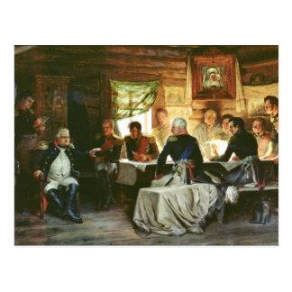 Council of War in Fili in 1812, 1882 Postcard