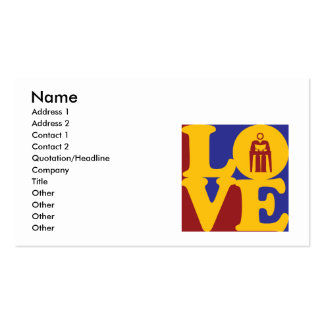 Counseling Love Business Card Template