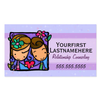 Counseling.Therapist.Marriage.Family.Appointment Carte De Visite Standard