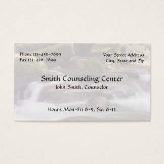 Counsellor Psychologist Mental Health Business Business Card