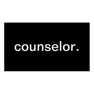 Counselor Pack Of Standard Business Cards