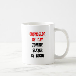 Counselor by Day Zombie Slayer by Night Coffee Mug