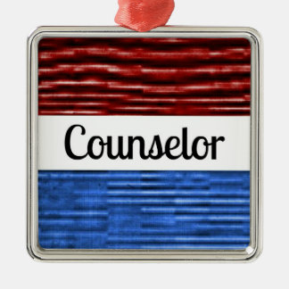Counselor Patriotic Christmas Ornament