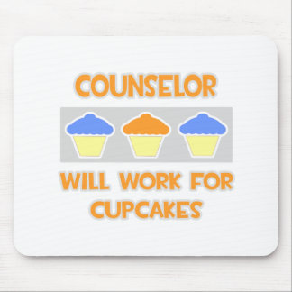 Counselor ... Will Work For Cupcakes Mousepads