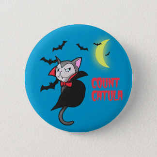 Count Catula Pun Illustration 2 Inch Round Button