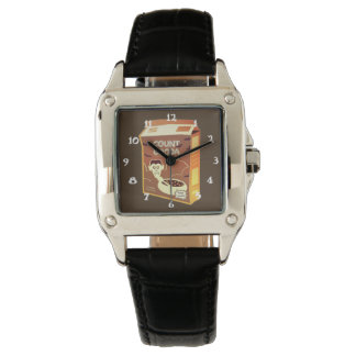 Count Cocoa Box square watch
