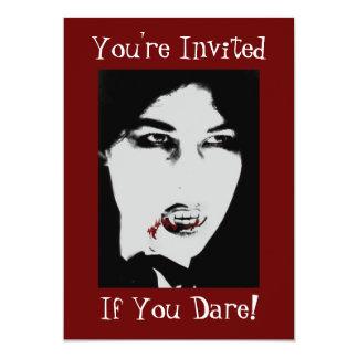 Count Dracula Halloween Vampire Dinner Invitation