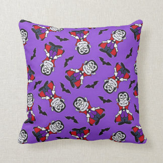 Count Dracula Pattern Throw Pillow