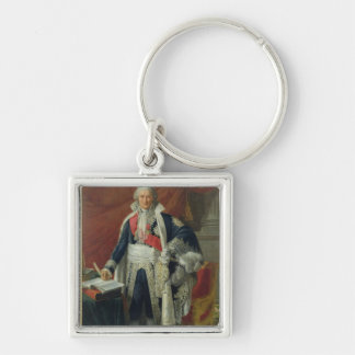 Count Jean-Etienne-Marie Portalis  1806 Silver-Colored Square Keychain