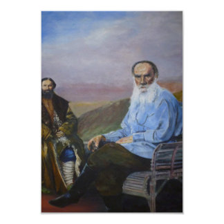 Count Leo Tolstoy in Blue. Card