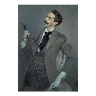 Count Robert de Montesquiou  1897 Poster