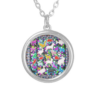 COUNT the birds animals butterfCli3y Silver Plated Necklace