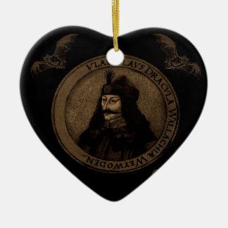 Count Vlad Dracula Ceramic Heart Ornament