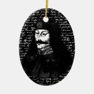 Count Vlad Dracula Ceramic Oval Ornament