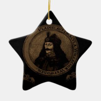 Count Vlad Dracula Ceramic Star Ornament
