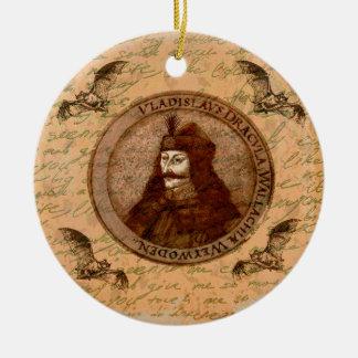 Count Vlad Dracula Round Ceramic Ornament