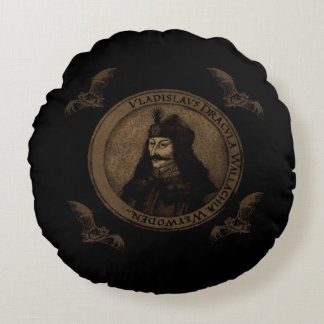 Count Vlad Dracula Round Pillow